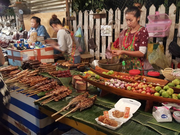 Food market in Laos