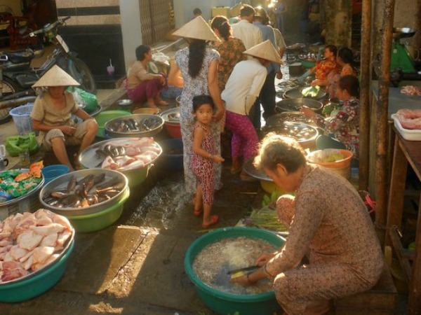 Local market on the Vietnamese Mekong Delta