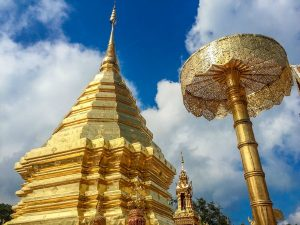 Thailand chiang mai wat phra that temple