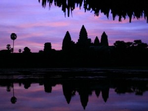 angkor wat at sun rise