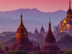 Landscape of temples in Bagan