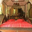 Bedroom at jungle lodge in Bukit Lawang, Sumatra