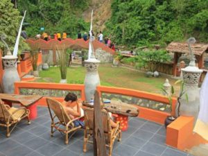 Terrace at jungle lodge in Bukit Lawang, Sumatra