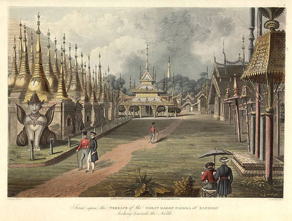 Great Dagon Pagoda during the Anglo-Burma period