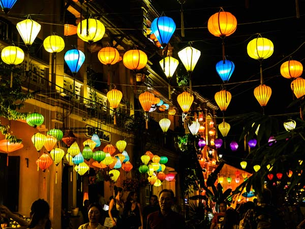 Colourful lanterns in Hoi An, Vietnam