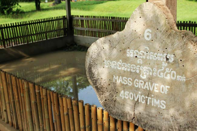 Cambodia Killing Field mass grave