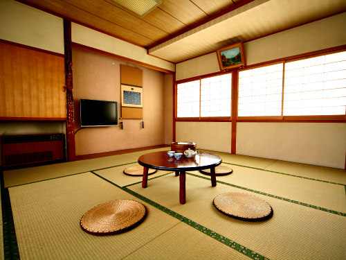 Traditional Japanese eating area
