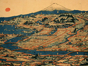 Painting of Tokyo from the Edo period