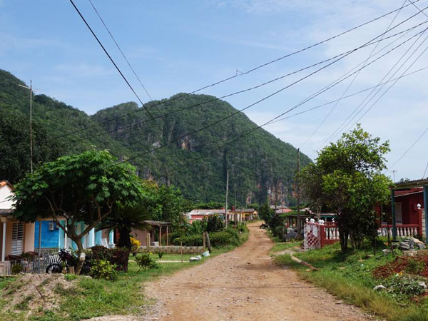 The town of Viñales a couple of days after Hurricane Irma hit