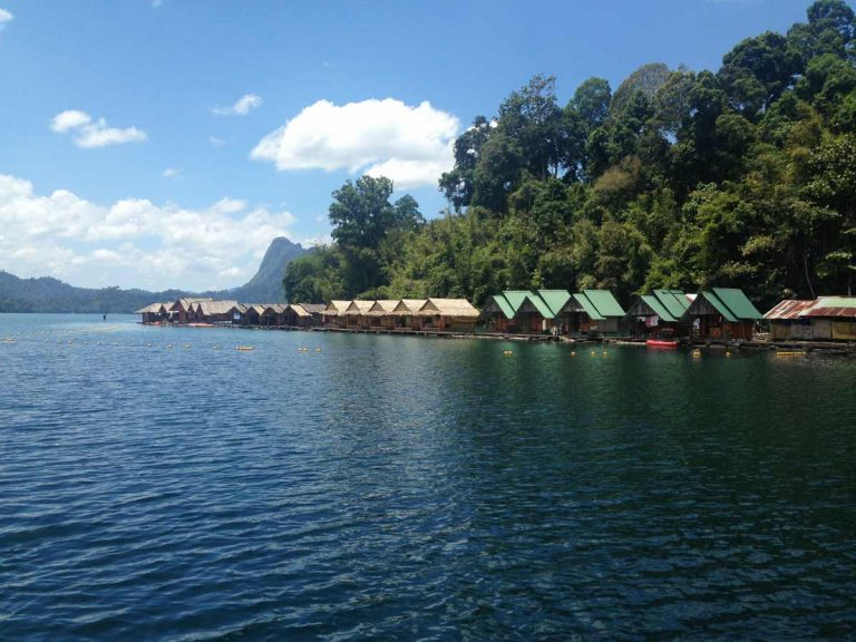 Raft houses in Khao Sok Thailand