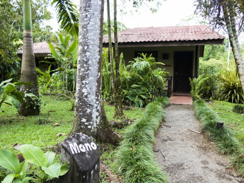 Costa Rica Boca Tapada bungalow outside nature calls