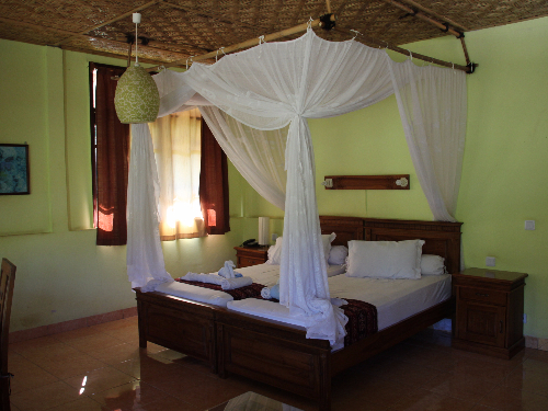 bedroom in maumere hotel in flores indonesia