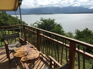 view from accommodation in lak lake vietnam