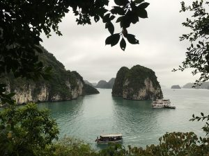 views of bai tu long bay in vietnam