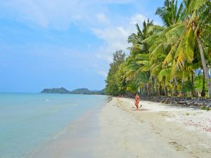 Woman on the beach in Koh Chang Thailand