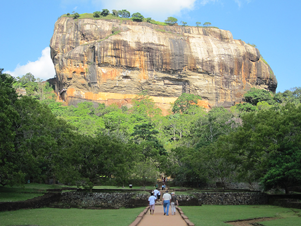View of Sigiriya in Sri Lanka