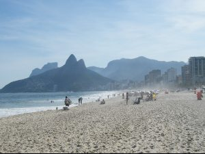 Locals on Copacabana Beach in Rio