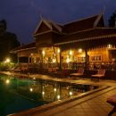 Pool by villa accomodation in Cambodia