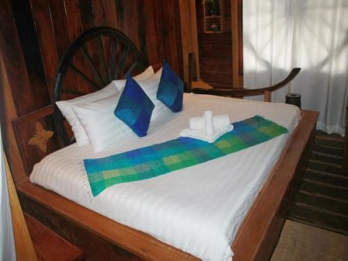 Bed in accomodation in Cambodia