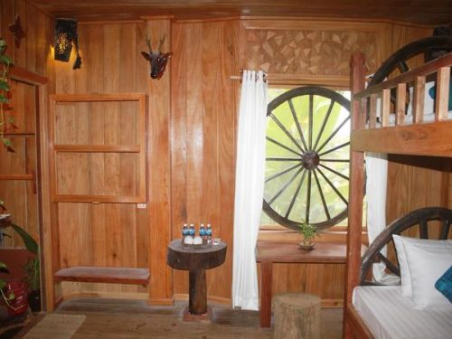 Wooden room accomodation in stung treng cambodia