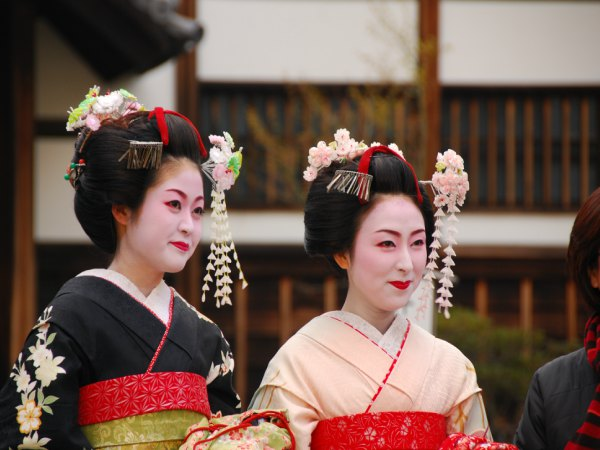 Geisha women in Kyoto Japan