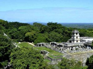 Temple ruins in Palenque Mexico
