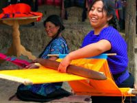 Women weaving in Mexico