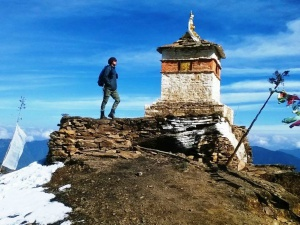 Customer on druk path summit in Bhutan