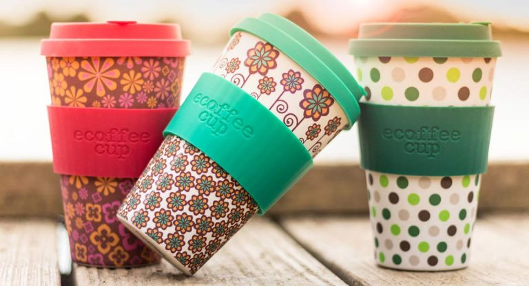 Patterned colourful Ecoffee Cups