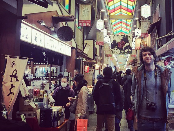 Our Japan Travel Specialist Paul at Nishiki Market in Kyoto, Japan