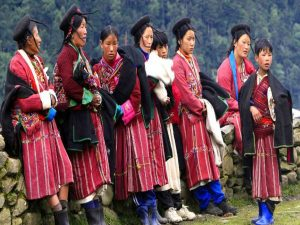 Brokpa people in Sakteng Merak Bhutan