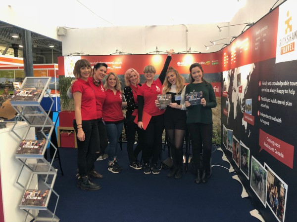 Rickshaw Staff at the destination show smiling at stand