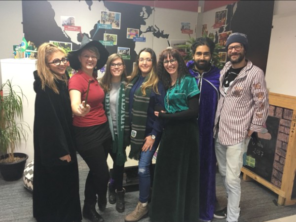 Staff at Rickshaw dressed up in their Harry Potter gear