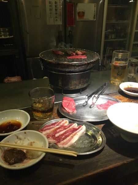 BBQ food in resturant in Japan