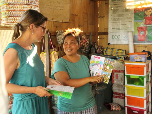 Women talking at local project in Bali