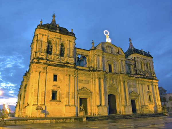 A famous building in Leon, Nicaragua