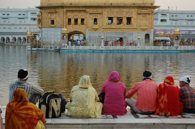 Golden temple in Amritsar India