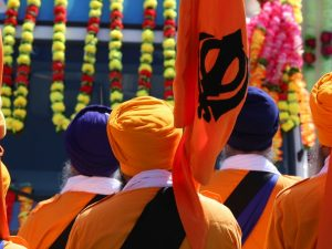 Sikhs celebrating Vaisakhi festival in India