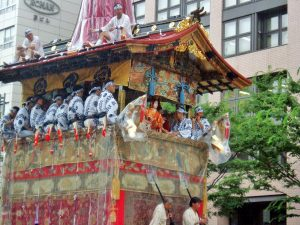 Japan festival float with locals
