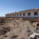 The outside of a salt hotel in Uyuni
