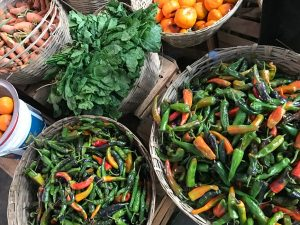 Local food at Thimphu market