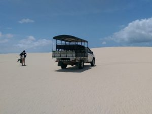 A jeep tour in Lencois Maranhenses in Brazil