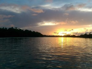 Sunset on the Rio Preguicas in Brazil