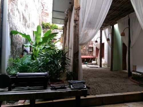 Dining area of our hotel in Sao Luis