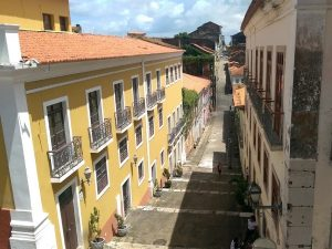 A colonial street in Sao Luis, Brazil