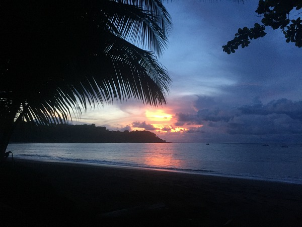 sunset over the beach in corcovado costa rica