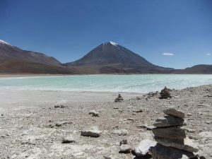 a lake on the altiplano