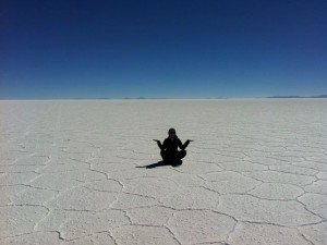 sitting on the Salt Flats