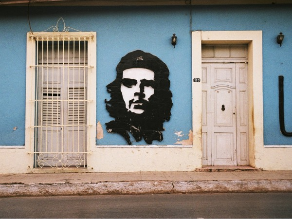 Che painted on street walls
