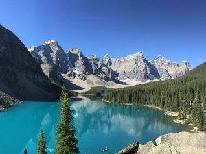 Scenic view of Banff National Park